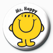 MR MEN (Mr Happy) Button