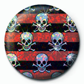 Button MULTI SKULL - Red