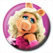 Button MUPPETS - miss piggy