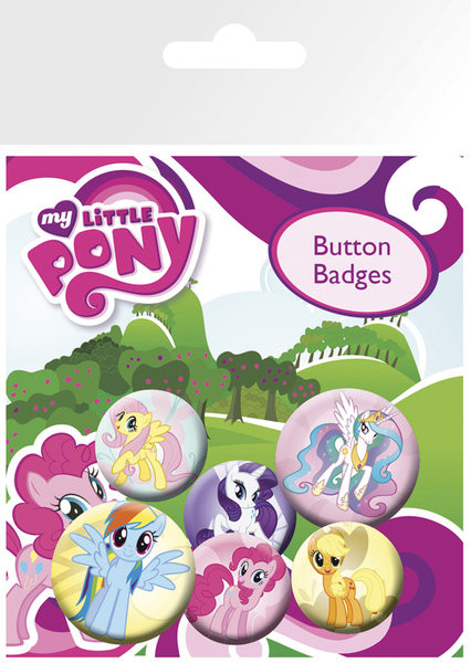 Button MY LITTLE PONY - characters
