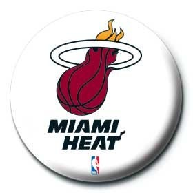Button NBA - miami heat logo