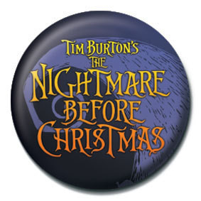 NIGHTMARE BEFORE CHRISTMAS - logo Button