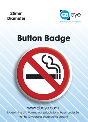Button No Smoking