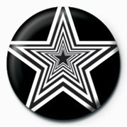 Button OP ART STARS