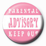 Button Parental Advisory (Pink)
