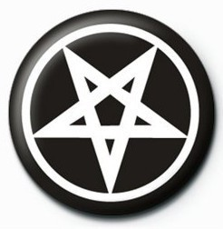 Button PENTAGRAM - bw