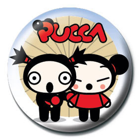 Button PUCCA - umbrella