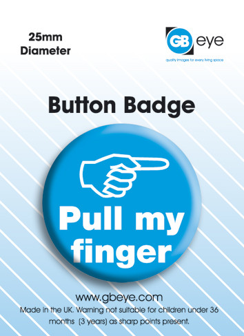 Pull my finger Button