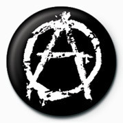 Button PUNK - ANARCHY - (WHITE)