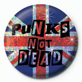 Button  PUNK'S NOT DEAD