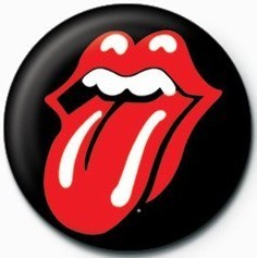 Rolling Stones (Lips) Button