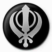 Button SIKH (FAITH SYMBOL)