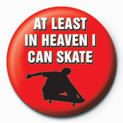 Button SKATEBOARDING - AT LEAST I