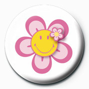 Button SMILEY - FLOWER