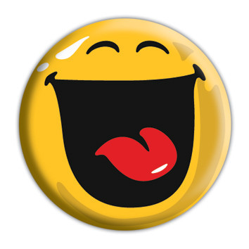 Button SMILEY - Happy