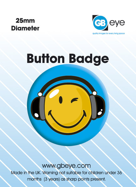 Button SMILEY HEADPHONES