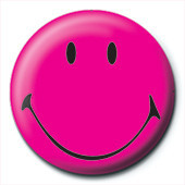 Button SMILEY - pink