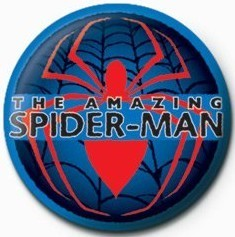Button SPIDERMAN - rote spinne