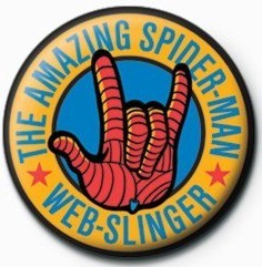 Button SPIDERMAN - web slinger