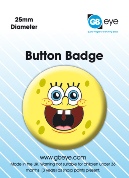 Button Spongebob Happy