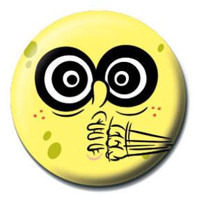 Button SPONGEBOB - verrückt