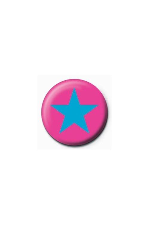Button STAR - pink/blue