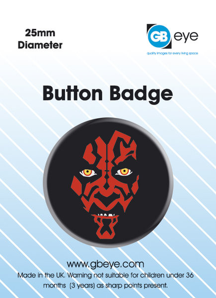 Button STAR WARS - darth maul