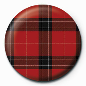 Button TARTAN (RED)