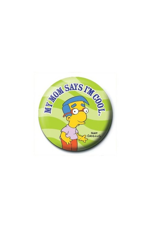 Button THE SIMPSONS - my mom says i'm cool