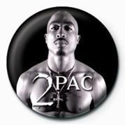 Button Tupac (B&W)