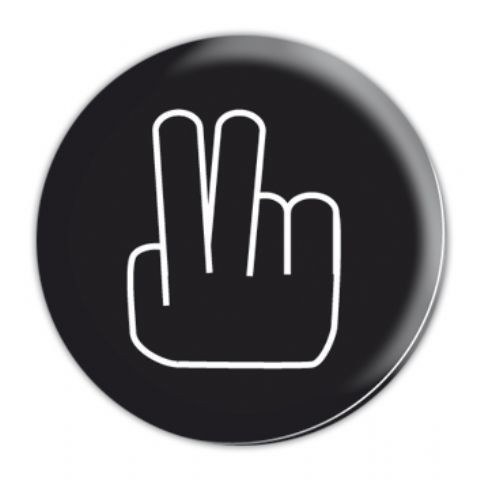 Button TWO FINGERS