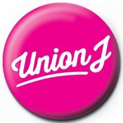Button UNION J - pink logo