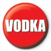 Button VODKA RED