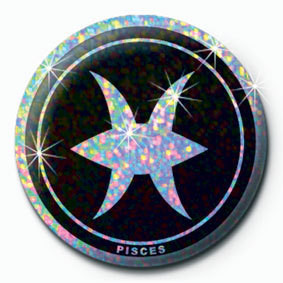 Button ZODIAC - Pisces
