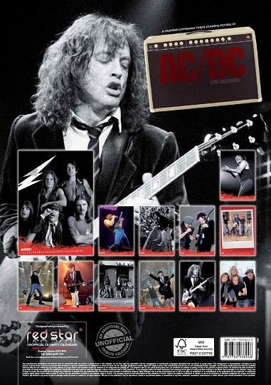 AC/DC Calendar 2018