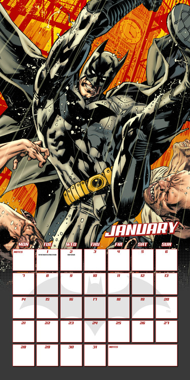 Batman Comics Calendar 2020