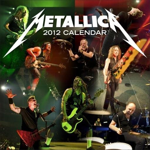 Calendário 2012 - METALLICA Calendar 2017