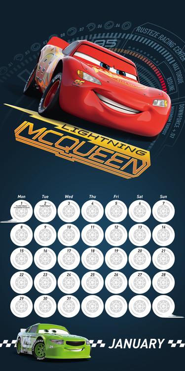 Cars 3 Calendar 2019