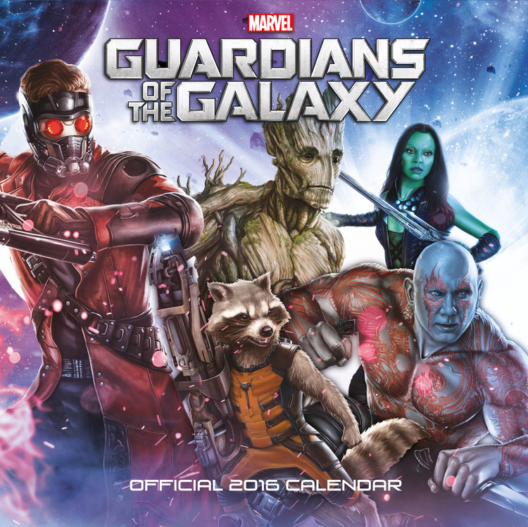 Guardians of the Galaxy Calendar 2016