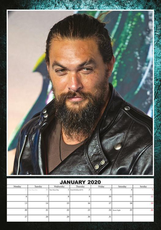 Jason Momoa Calendar 2020