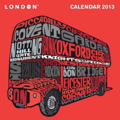 Kalendář 2013 - VISIT LONDON Calendar 2017