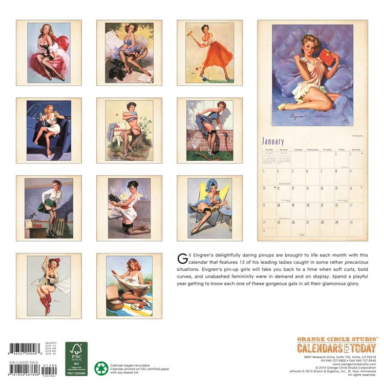 Pin-Up Girls Calendar 2019
