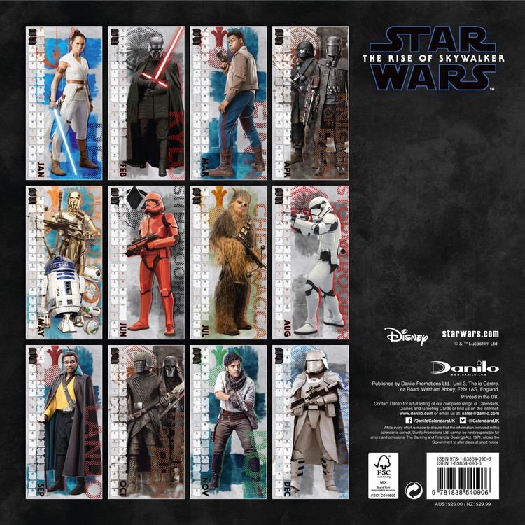 Star Wars: Episode 9 Calendar 2020