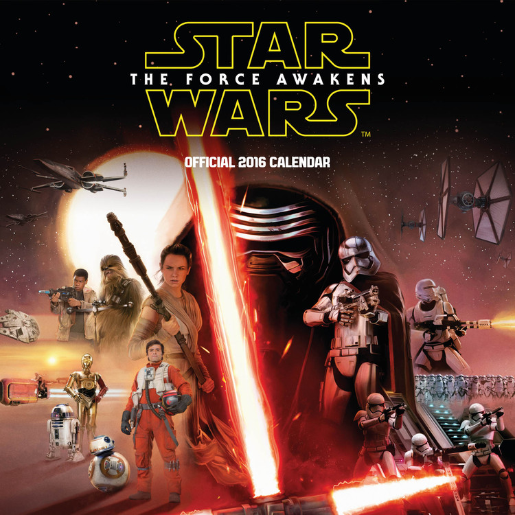 Star Wars Episode VII: The Force Awakens Calendar 2017
