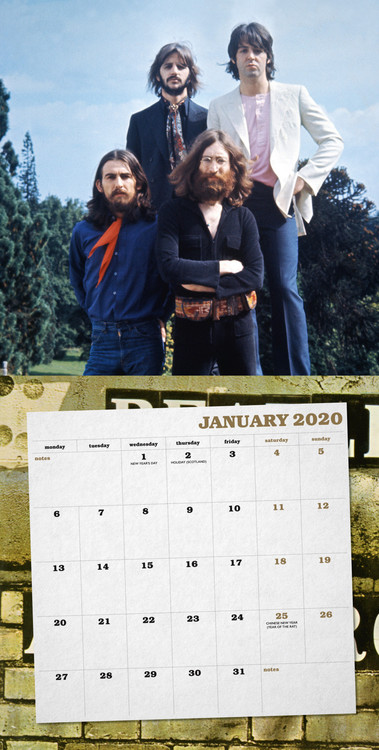 The Beatles Calendar 2020