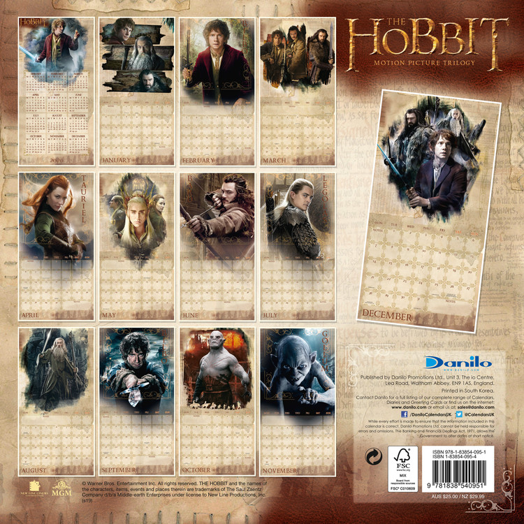 The Hobbit / Lord Of The Rings Calendar 2020