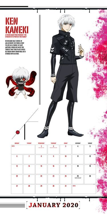 Tokyo Ghoul Calendar 2021