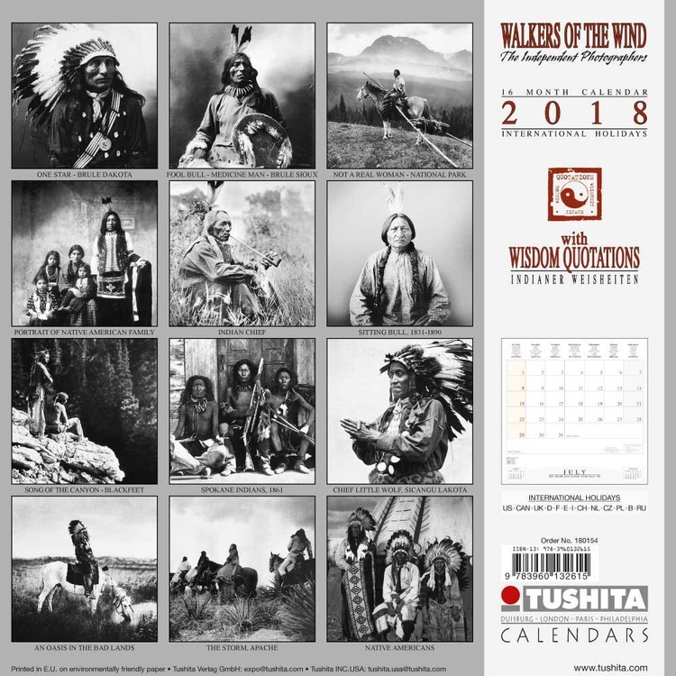 Walkers of the Wind Calendar 2019