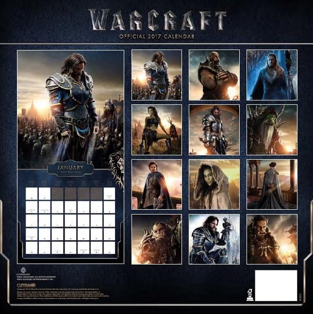 WarCraft Calendar 2018
