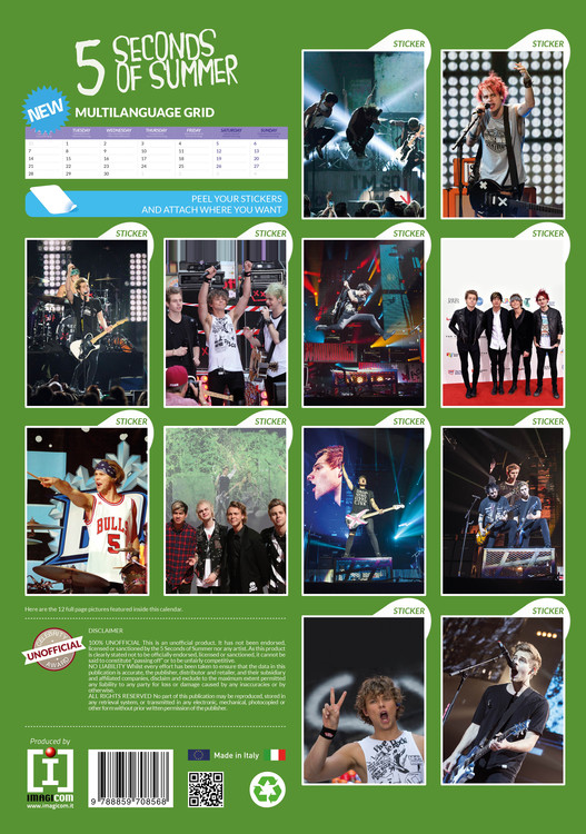 Calendario Ade.Calendario 2020 5 Seconds Of Summer